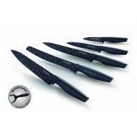 Royalty Line RL-MB5 Set de couteaux de revêtement anti-adhésif5PCS Noire