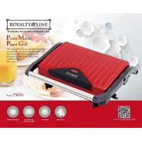 Royalty Line PM-750.1 Panini Grill 750W Rouge