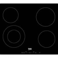 BEKO HIC64402T - Table de cuisson vitroceramique - 4 zones - 6700 W - L 58 x P 51 cm - Revetement verre - Noir