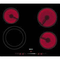 BEKO HIC64502T Table de cuisson vitroceramique - 4 zones - 6700W - L58 x P51cm - Revetement verre - Noir