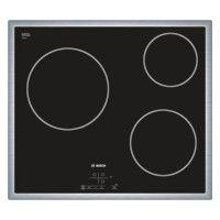 BOSCH PKM645B17E Table de cuisson Vitroceramique - 3 zones - 5700W - L58,3 x P51,3cm - Revetement verre - Noir