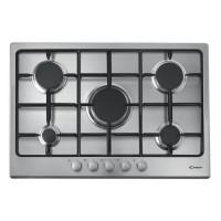 CANDY CTG1057X - Table de cuisson Gaz - 5 foyers - 11250W - L75 x P51cm - Revetement inox - Coloris Inox