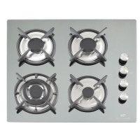 CONTINENTAL EDISON CECTG4FM2 Table de cuisson gaz-4 foyers-L59xP52cm-Revetement verre-Coloris miroir
