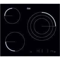 FAURE FEV6334FBA Table de cuisson vitroceramique-3 zones-5700 W-L 59 x P 52cm-Revetement verre-Noir