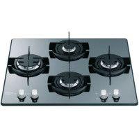 HOTPOINT FRDD 642 HAICE Table de cuisson gaz-4 foyers-7,3kW-L60 x P 51cm-Revetement verre-Noir