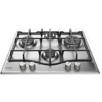 HOTPOINT PNN 641 IX - Table de cuisson Gaz - 4 foyers - 3600 W - L 60 x P51 cm - Revetement Inox