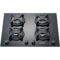 ROSIERES RTV640FPN-Table de cuisson gaz-4 foyers-8750 W-L 56 x P 48 cm-Revetement verre-Noir