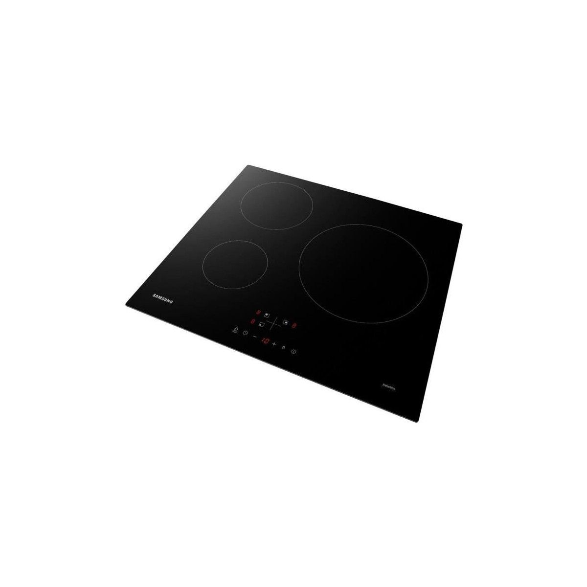 Table De Cuisson Vitrocéramique Pas Cher samsung nz63m3nm1bb/ur - table de cuisson induction - 3 zones - 7200 w -  l59 x p57 cm - revetement verre - noir