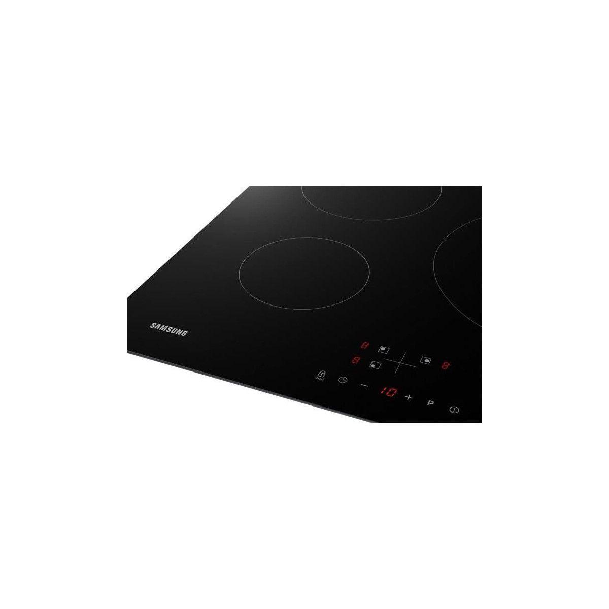 Achat Plaque Induction Pas Cher samsung nz63m3nm1bb/ur - table de cuisson induction - 3 zones - 7200 w -  l59 x p57 cm - revetement verre - noir