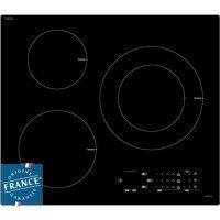 SAUTER SPI5361B Table de cuisson induction - 3 zones - 7200W - L60 x P52cm - Revetement verre - Noir