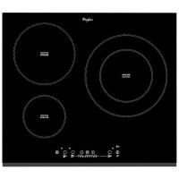 WHIRLPOOL ACM860BF-Table de cuisson induction-3 zones-7000 W-L58 x P51 cm-Revetement verre-Noir