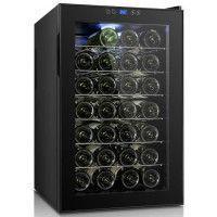CONTINENTAL EDISON CECWC28LCD - Cave a vin de service - 28 bouteilles - Pose libre - Classe B - L 45 x 73 cm -