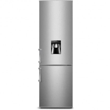 CONTINENTAL EDISON CEFC262DS - Refrigerateur combine - 262L 196L + 66L - Froid statique - A+ - L 55 x H 180 cm - Silver
