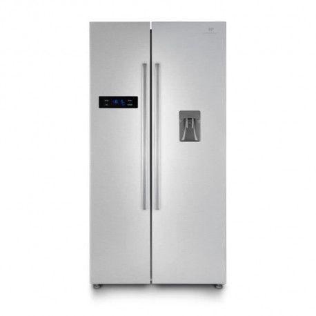 CONTINENTAL EDISON - Refrigerateur americain-525 L 348 + 177L-No frost-A+-L 89,5 x H 178,5 cm-Inox-Distributeur deau autonome