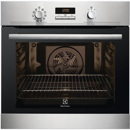 ELECTROLUX EEC43402OX - Four electrique encastrable - Chaleur pulsee - 68 L - Pyrolyse - A - Inox anti trace