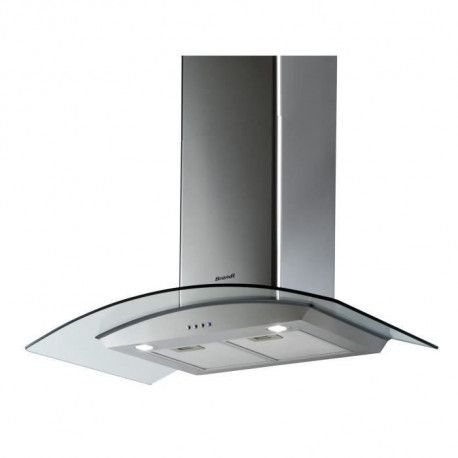 BRANDT AD1070X Hotte decor murale - Evacuation / Recylclage - Debit evacuation air 827m3-h - 3 vitesses - Larg 90cm - Inox