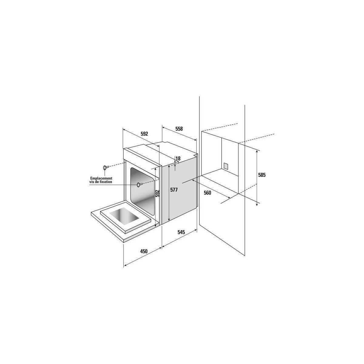 Piano De Cuisson Pas Cher Sauter sauter sfp950x - four electrique encastrable multifonction - 65 l -  pyrolyse - a+ - inox