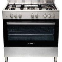 CANDY CCGM9055PX-Cuisiniere table gaz-5 foyers-11060 W-Four electrique multifonction-Catalyse-100 L-A-L 90 x H 87 cm-Inox