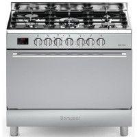 BOMPANI BOMFE96IX - Cuisiniere table gaz-5 foyers-Four electrique-Catalyse-119L-L 90 x H 85 cm-Inox