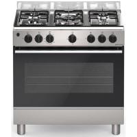 BOMPANI CDBG85IX -Cuisiniere table gaz-5 foyers-Four gaz-Catalyse-74L-L 80 x H 84 cm-Inox