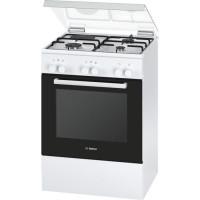 BOSCH HGD72D120F - Cuisiniere table mixte gaz / electrique-4 foyers-4200W-Four electrique-Catalyse-66L-A-Blanc