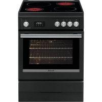 BRANDT BCV6650A-Cuisiniere table de cuisson vitroceramique-4 zones-Four electrique-Pyrolyse-56 L-A-L 60 x H 85 cm-Noir