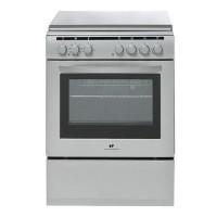 CONTINENTAL EDISON CECM6060MS2 Cuisiniere table mixte gaz / electrique-4 foyers-Four electrique-Catalyse-56L-A-L60xH85cm-Silver