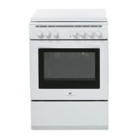 CONTINENTAL EDISON CECM6060MW2 Cuisiniere table mixte gaz / electrique-4 foyers-Four electrique-Catalyse-56L-A-L60xH85cm-Blanc
