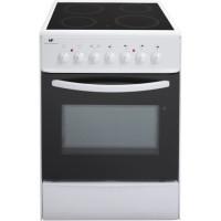 CONTINENTAL EDISON CVMC6060W - Cuisiniere table vitroceramique-4 foyers- 1700W-Four electrique- Catalyse-61L-A-L60XH85cm-Blanc