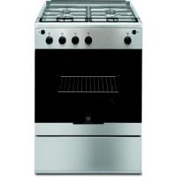 ELECTROLUX EGKG60100VX-Cuisiniere table gaz-4 foyers-Four electrique-Catalyse-59 L-L 60 x H 88,9 cm-Inox
