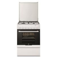 ELECTROLUX EKM60300OW-Cuisiniere table mixte gaz / electrique-4 zones-Four electrique-Catalyse-54 L-L 60 x H 88,9 cm-Blanc