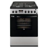 FAURE FCM656HPSA cuisiniere table mixte gaz / electrique - 4 foyers - Four electrique - Pyrolyse - 54 L - A - L 60 x H 88,9 cm