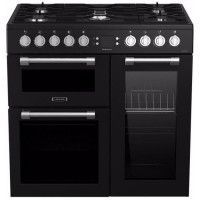 LEISURE CK90F320KG-Piano de cuisson table gaz-5 foyers-5,5kWh-triple cavite-2 fours+1 grill-60L+79L-A-Noir