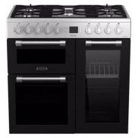 LEISURE CK90F320XG -Piano de cuisson table gaz-5 foyers-5,5kWh-triple cavite-2 fours+1 grill-60L+79L-A-Inox