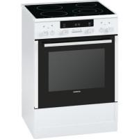 SIEMENS HA854220F - Cuisiniere vitroceramique 60cm 66L Pyrolyse - Blanc