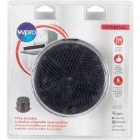 WPRO UNF001 Filtre de hotte a charbon universel adaptable tous modeles - Diametre 153 mm - Auto-extinguible