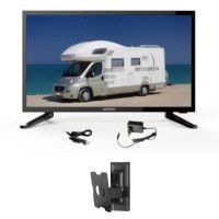 OCEANIC TV LED Camping Car + Support TV mural inclinable - TV HD 48.3cm 19 12-24V et 220V