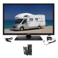 OCEANIC TV LED Camping Car + Support TV mural inclinable - TV Full HD 55cm 21,5 12-24V et 220V