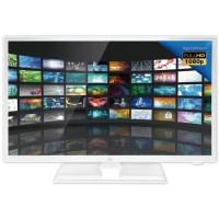 DUAL Televiseur LED Camping Car Full HD 24 - 12V - Blanc