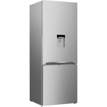 BEKO CRCSE460K20DS-Refrigerateur combine-460 L 336 + 124 L-Froid statique-A+-L 70 x H 192 cm-Silver