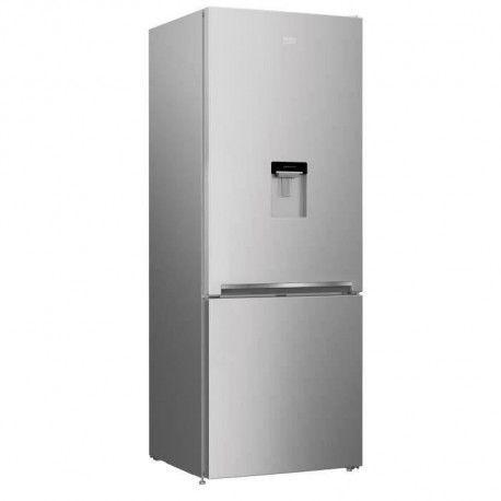 BEKO REC52S - Refrigerateur congelateur bas - 450L 326+124 - Froid ventile - A+ - L 70cm x H 192cm - Silver