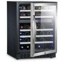 DOMETIC S46G - Cave a vin de service a 2 zones -  46 bouteilles - Pose libre ou encastrable - Classe A - L 59.5 x H 82 cm