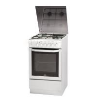 INDESIT IW5MSCGA W/FR -Cuisiniere table mixte gaz / electrique-4 zones-7900W-Four electrique-Catalyse-61L-A-L50xH85cm-Blanc
