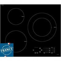 SAUTER SPI6300 - Table de cuisson induction - 3 zones - 7200 W - L 60 x P 52 cm - Revetement verre - Noir