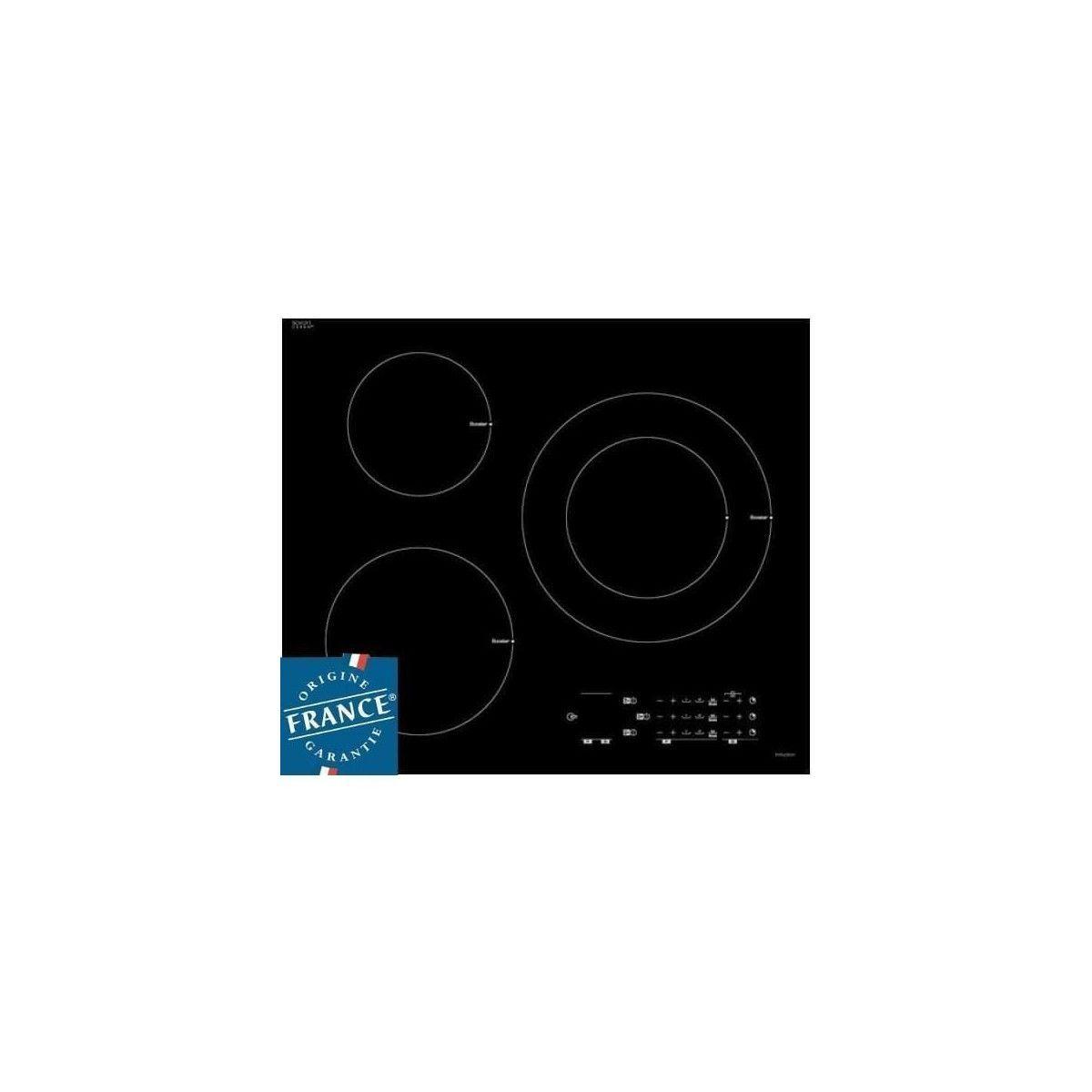 Piano De Cuisson Pas Cher Sauter sauter spi6300 - table de cuisson induction - 3 zones - 7200 w - l 60 x p  52 cm - revetement verre - noir