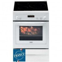 SAUTER SCI1061W - Cuisiniere table induction-3 foyers-8983W-Four electrique-Pyrolyse-50,4L-A-L60xH85cm-Blanc